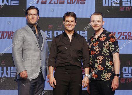 Tom Cruise, Simon Pegg and Henry Cavill