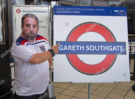 Southgate station renamed 'Gareth Southgate', London