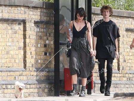 Exclusive - Daisy Lowe out and about, north London