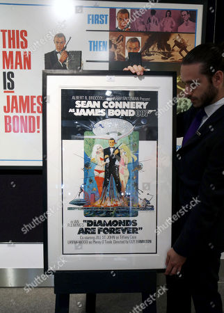 Stock Photo of Original concept artwork for the Sean Connery as James Bond Diamonds are Forever poster