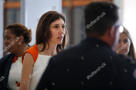 Former FBI lawyer Lisa Page, left, arrives for a closed doors interview with the House Judiciary and House Oversight committees, on Capitol Hill in Washington