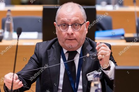 Argentina's Foreign Minister Jorge Marcelo Faurie arrives for an EU-CELAC foreign ministers meeting at the Europa building in Brussels on