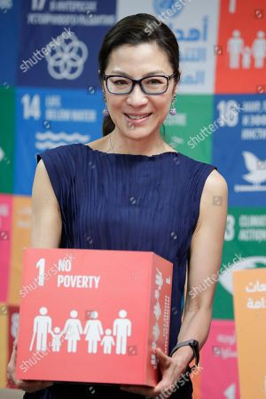 Michelle Yeoh at the UN Headquarters, New York