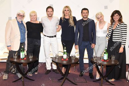 Stock Picture of Claudio Masenza, Piera De Tassis, Daniel Bruhl, Tiziana Rocca, Vinicio Marchioni, Marina Rocco