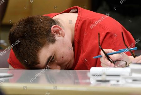 School shooting suspect Nikolas Cruz sits in a Broward County courtroom for a hearing in Fort Lauderdale, Fla., . The hearing is to determine how much of Cruz's statement to investigators should be be made public. Cruz faces the death penalty if convicted of killing 17 people in the Valentine's Day attack at Marjory Stoneman Douglas High School