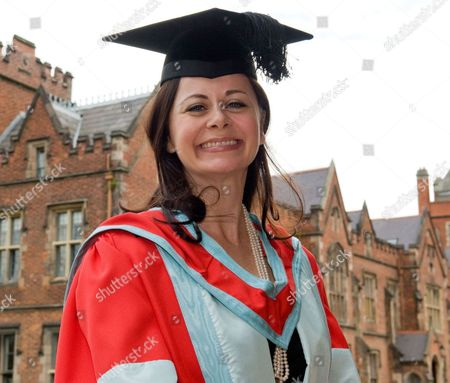 Editorial picture of Geraldine Hughes receives honorary degree from Queen's University, Cambridge, Britain - 10 Jul 2009