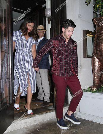 Priyanka Chopra and Nick Jonas out and about, London