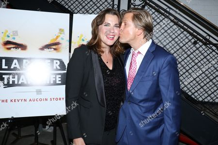 Stock Image of Tiffany Bartok, director of the film and Jayce Bartok, producer of the film