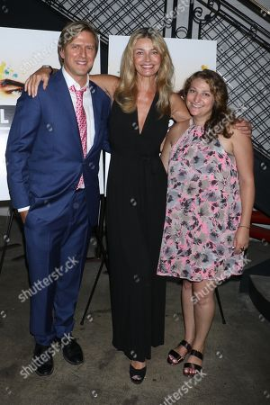 Stock Photo of Jayce Bartok, producer of the film, Paulina Porizkova and Julie Dansker, VP Sales of The Orchard