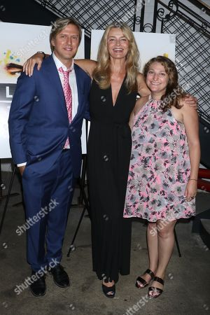 Stock Picture of Jayce Bartok, producer of the film, Paulina Porizkova and Julie Dansker, VP Sales of The Orchard