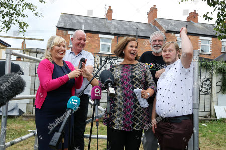 Mary Lou McDonald, Michelle O'Neill, Bobby Storey Gerry Adams