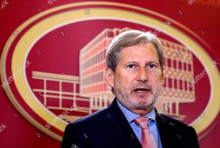 European Commissioner Johannes Hahn visit to Skopje