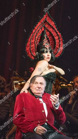 Editorial image of 'Weimar Cabaret' Cabaret performed by Barry Humphries and Meow Meow at the Barbican Theatre, London, UK, 11 Jul 2018
