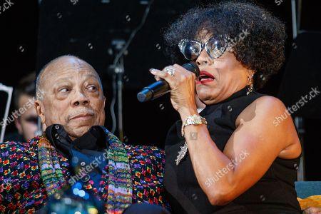 Quincy Jones and Dee Dee Bridgewater.