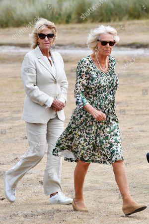 Annabel Elliot and Camilla Duchess of Cornwall on St Martins Island