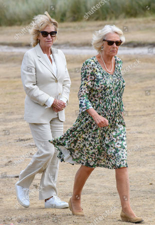 Annabel Elliot and Camilla Duchess of Cornwall on St Martins Island