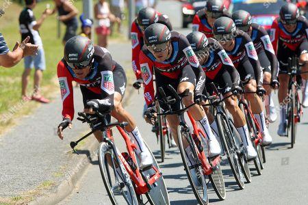 TTT Cholet 35.5kms Team BMC Lead by Greg Van Avermaet (B) Olympic Champion, and American Tejay Van Garderen.