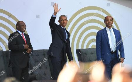 Cyril Ramaphosa, Barack Obama and Patrice Motsepe