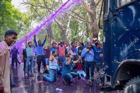 Government teachers protest, Srinagar