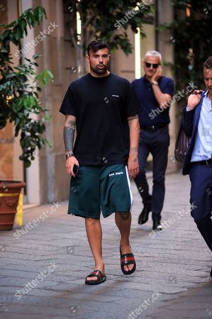 Andrea Petagna out and about, Milan