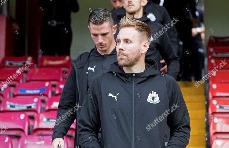 Stock Photo of St. Patrick's Athletic vs Newcastle United. Newcastle's Rob Elliot