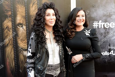 Stock Picture of Cher and Lisa Cannon