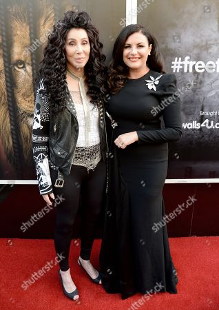 Stock Image of Cher and Lisa Cannon