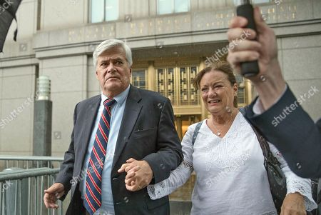 Dean Skelos, Gail Skelos. Dean Skelos, left, and his wife Gail leave federal court, in New York. The former New York state Senate leader and his son Adam were convicted on Tuesday of extortion, wire fraud and bribery charges of pressuring businesses to give the son no-show jobs or else risk losing the powerful Republican's political support