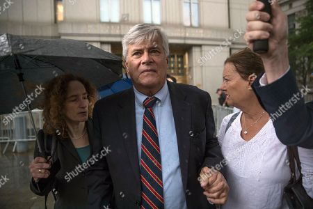 Dean Skelos, Gail Skelos. Dean Skelos, center, and his wife Gail, right, leave federal court, in New York. The former New York state Senate leader and his son Adam were convicted on Tuesday of extortion, wire fraud and bribery charges of pressuring businesses to give the son no-show jobs or else risk losing the powerful Republican's political support
