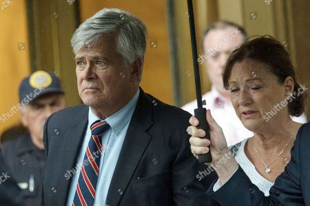 Dean Skelos, Gail Skelos. Dean Skelos, left, and his wife Gail, right, leave federal court, in New York. The former New York state Senate leader and his son Adam were convicted on Tuesday of extortion, wire fraud and bribery charges of pressuring businesses to give the son no-show jobs or else risk losing the powerful Republican's political support