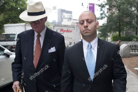 Adam Skelos, right, federal court, in New York. Dean Skelos, the former New York state Senate leader, and his son Adam were convicted on Tuesday of extortion, wire fraud and bribery charges of pressuring businesses to give the son no-show jobs or else risk losing the powerful Republican's political support
