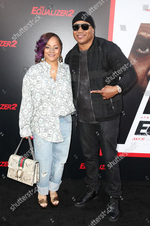Simone Johnson and LL Cool J