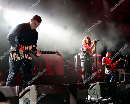 The American noise pop band Sleigh Bells with front woman Alexis Krauss performs at the Xfinity Center, in Mansfield, Mass