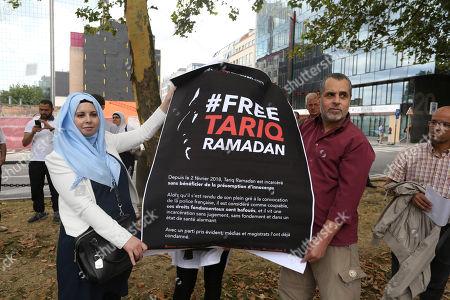 Protest action against the detention of Tariq Ramadan