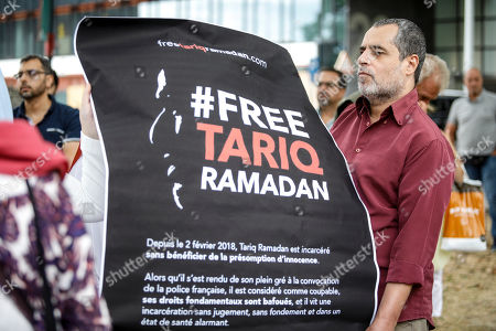 Protest action against the detention of Tariq Ramadan
