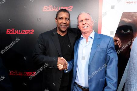 Stock Photo of Denzel Washington, Producer/Actor, and Richard Wenk