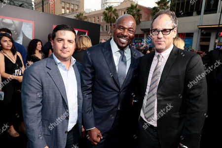 Stock Picture of Josh Greenstein, President, Sony Pictures Worldwide, Marketing & Distribution, Antoine Fuqua, Director/Producer, and Sanford Panitch, President, Columbia Pictures, Sony Pictures Entertainment, attend the Los Angeles premiere of Columbia Pictures' THE EQUALIZER 2 at TCL Chinese Theatre, supported in part by Lyft.