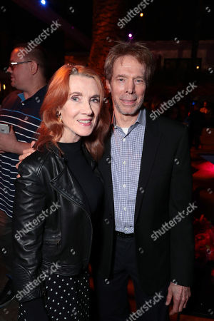 Linda Bruckheimer and Jerry Bruckheimer attend the Los Angeles premiere after-party of Columbia Pictures' THE EQUALIZER 2 at the Roosevelt Hotel, sponsored in part by Heineken, Portobello gin, Chopin vodka and Clase Azul Tequila.