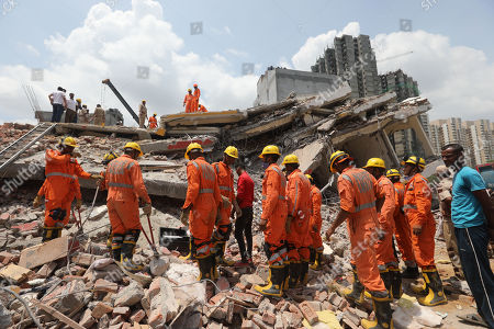Building collapse in Shahberi, east of New Delhi