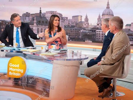 Piers Morgan, Susanna Reid with Labour Leaver John Mann - and Tory remainer Phillip Lee