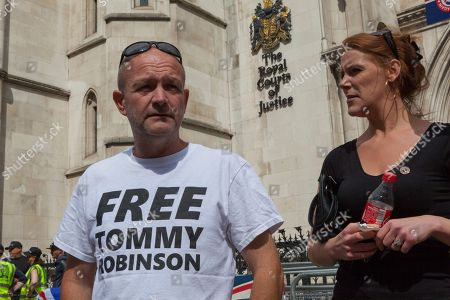 Editorial photo of Tommy Robinson Court of Appeal, London, UK - 18 Jul 2018.