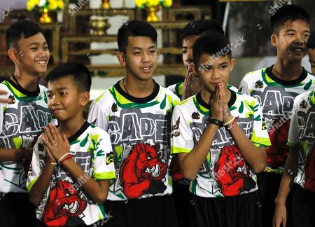 Rescued football team press conference, Chiang Rai