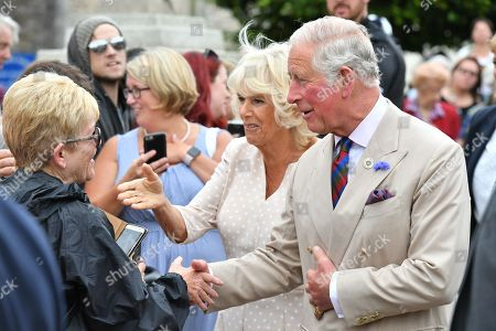 Camilla Duchess of Cornwall and Prince Charles in Honiton