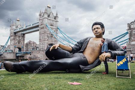 NOW TV Jeff Goldblum statue photocall, London