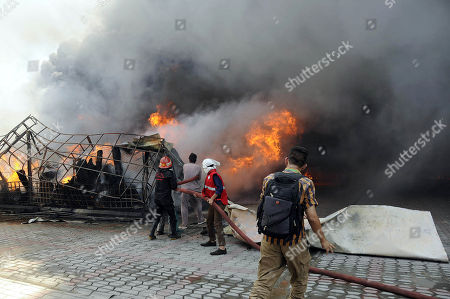 Market fire, Islamabad