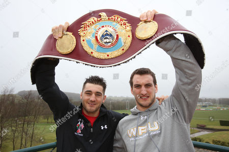 WBO light heavyweight world champion Nathan Cleverly and Wales Rugby Captain Sam Warburton meet up in Cardiff