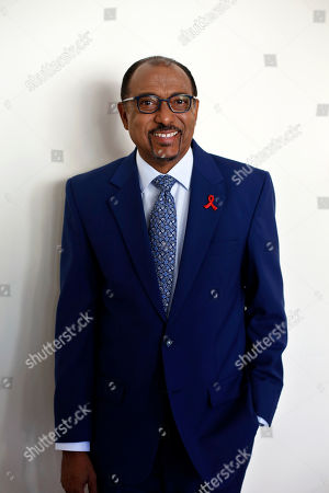 Stock Photo of Embattled UNAIDS chief Michel Sidibe poses for photographers before attending a press conference, in Paris, France, . Sidibe has said he will not quit his job over criticism of his handling of sexual harassment allegations at the Geneva-based agency