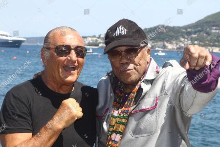 Quincy Jones welcomed by Tony Renis