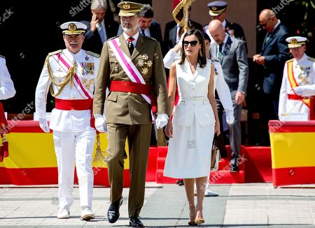 Spanish Royals visit The Central Academy of Defense, Madrid