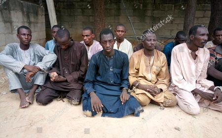 Captured alleged members of Boko Haram, Maiduguri